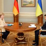 Зеленский и Меркель обсудили «Северный поток-2» и ситуацию в Донбассе